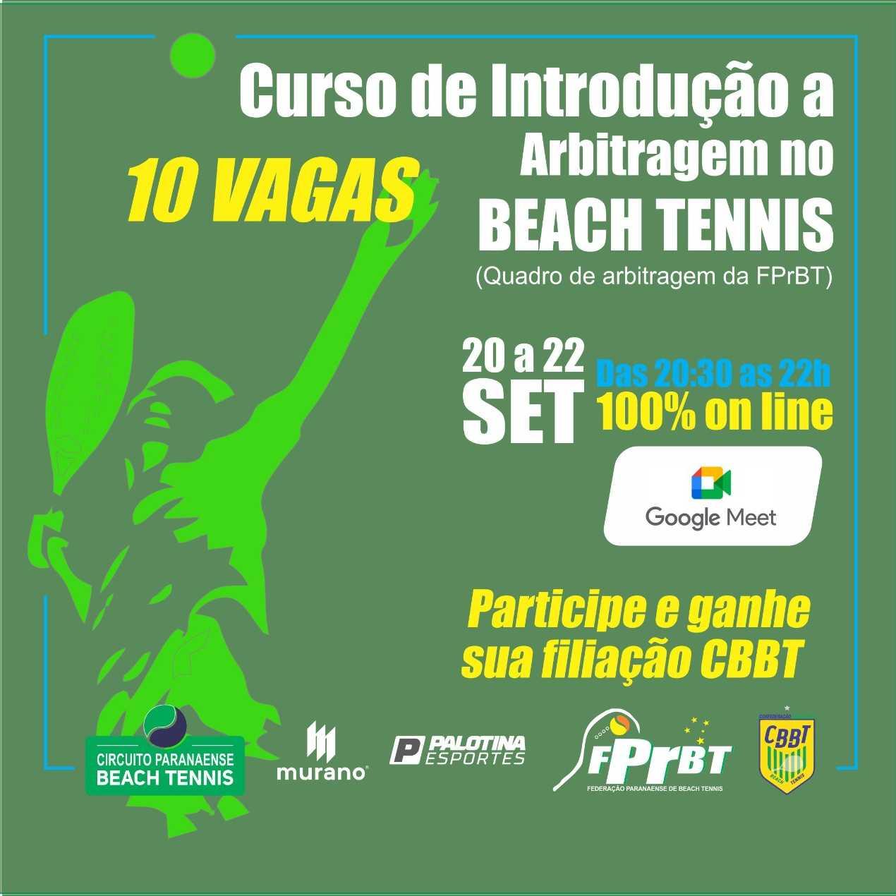 Curso de Introdução a Arbitragem no Beach Tennis