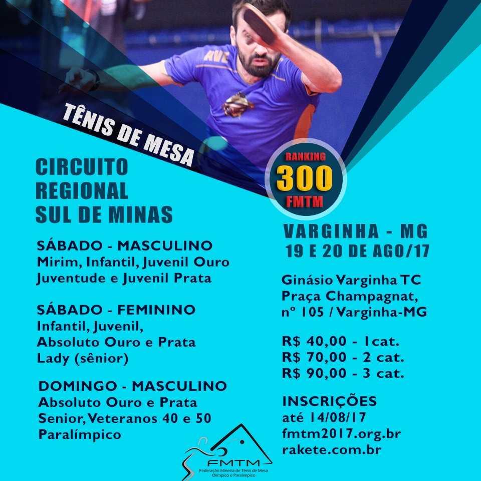 CIRCUITO REGIONAL 2017 -  FMTM 300 - 2a. ETAPA SUL DE MINAS - VARGINHA