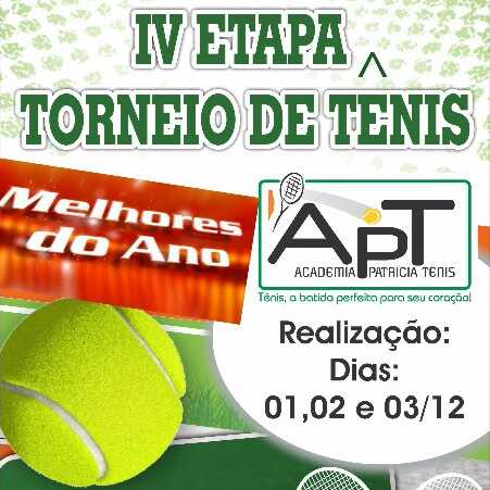 IV ETAPA TORNEIO DE TENIS