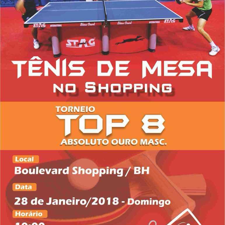 TÊNIS DE MESA NO SHOPPING - TORNEIO TOP 8 - ABSOLUTO OURO (Masculino)