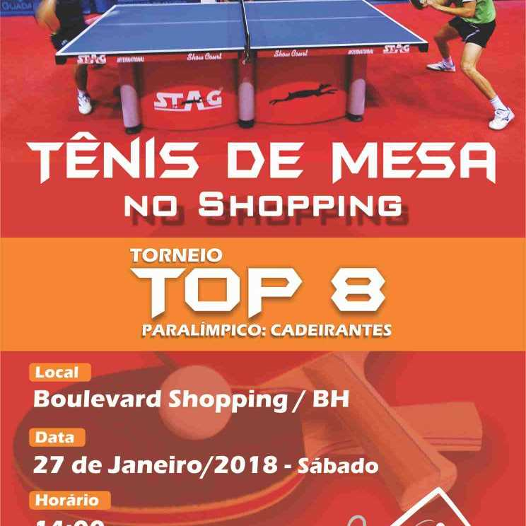 TÊNIS DE MESA NO SHOPPING - TORNEIO TOP 8 - PARALIMPICO : CADEIRANTE