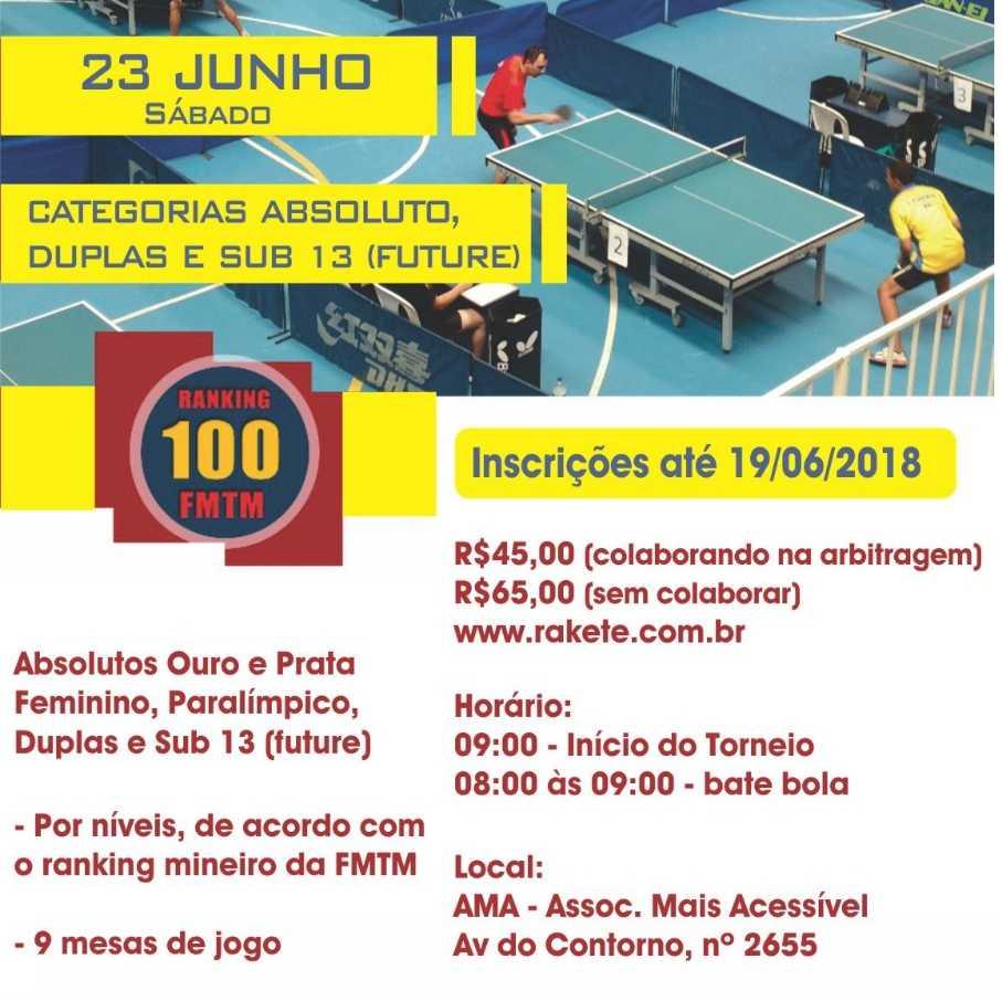 12° DECATHLON BH OPEN DE TÊNIS DE MESA - FMTM 100