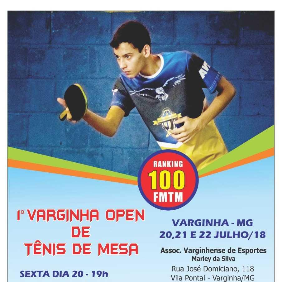1° Varginha Open De Tênis de Mesa