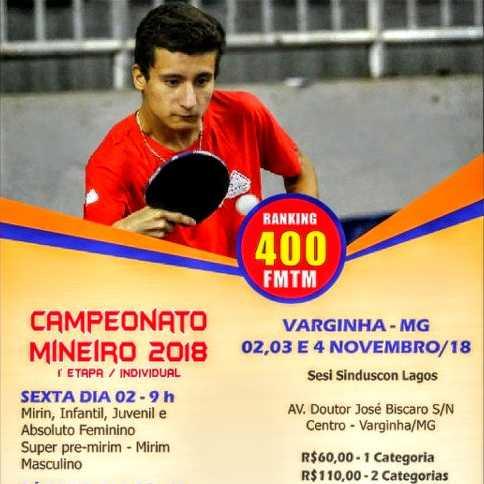 Campeonato Mineiro 2018 - 1° Etapa/ Individual