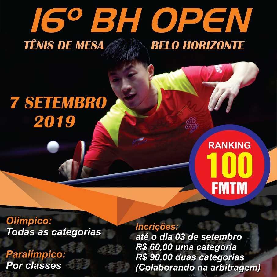 16° BH Open de Tênis de Mesa