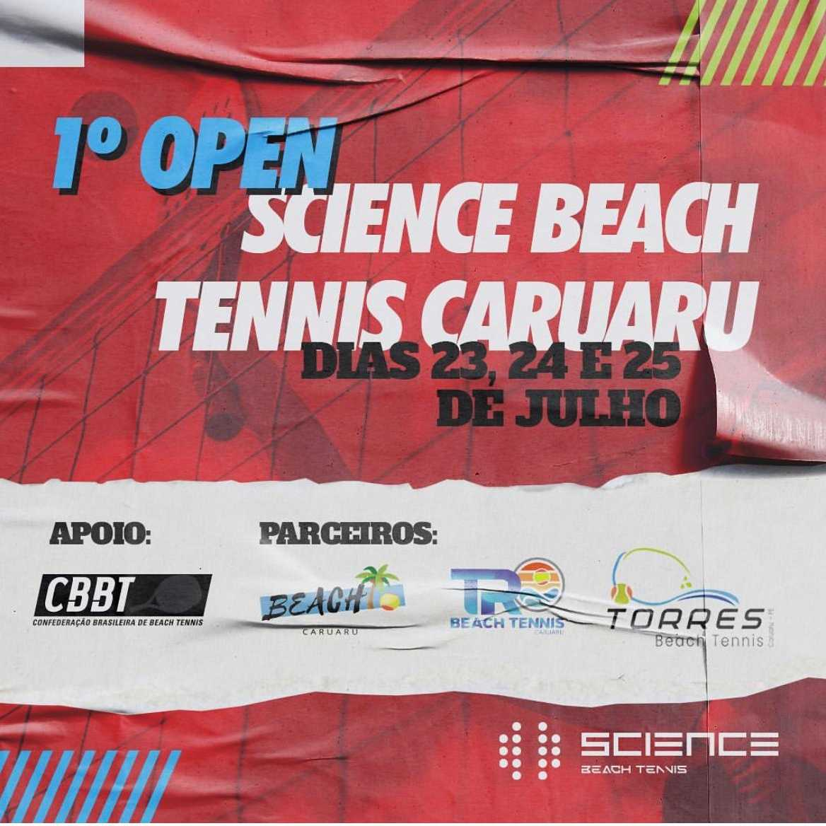 1° Open Science de beach Tennis